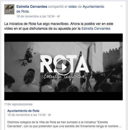 Más de 7000 visitas al vídeo en la cuenta de Facebook del Ayuntamiento.