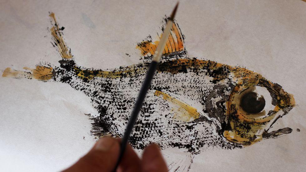 Gyotaku finalizado - Foto: Rubén Gasalla
