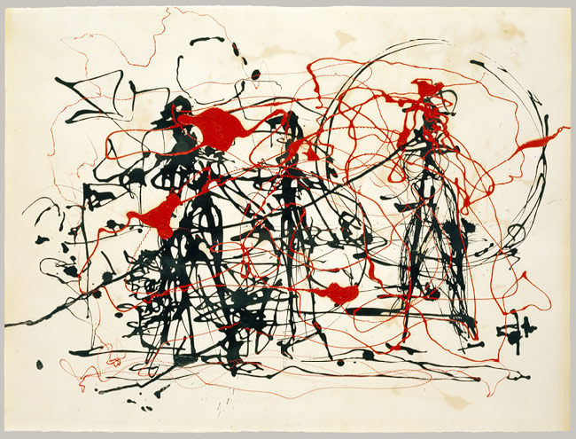 Untitled, ca. 1948–49 Jackson Pollock (American, 1912–1956) Dripped ink and enamel on paper; 22 3/8 x 30 in. (56.8 x 76.2 cm) Gift of Lee Krasner Pollock, 1982 (1982.147.27) © 2011 The Pollock–Krasner Foundation / Artists Rights Society (ARS), New York
