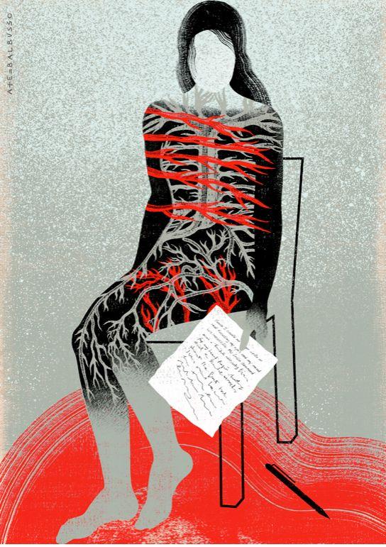 Balbusso Ilustración para el articulo «Viviendo con una enfermedad autoinmune» Fuente: The New Yorker Magazine