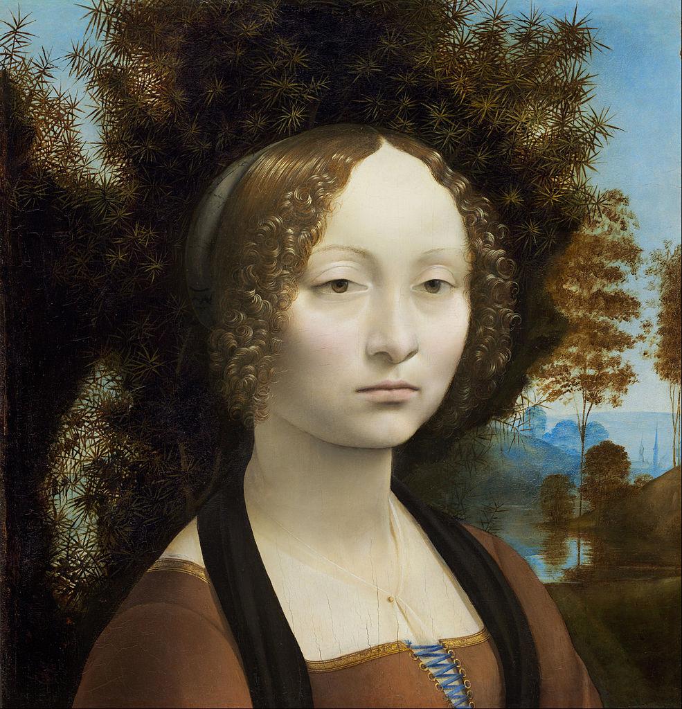 Leonardo da Vinci «Retrato de Ginevra de Benci»