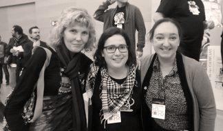 Con Dolores Bueno y Rosa Porcel en «Desgranando Ciencia»