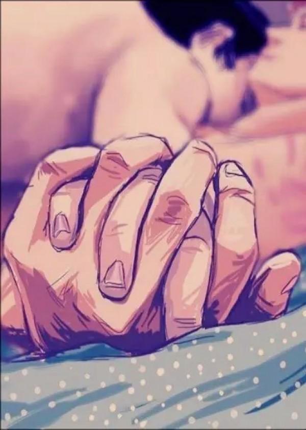 Diana Santos Pintura que muestra dos manos cogidas