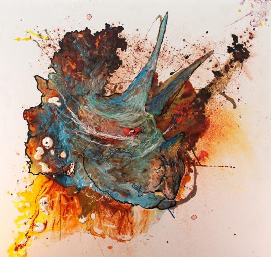 Lucas Gilbertson «Chicxulub» Obra abstracta que pretende simular el cráter causado por un asteroide
