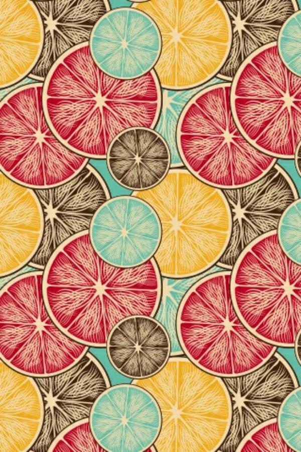Lourdes Núñez «Georgette» Pintura que simula naranjas partidas de diferentes colores