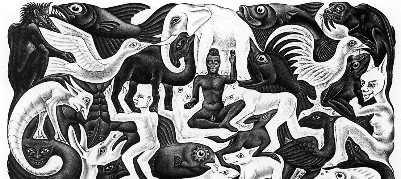 M.C. Escher Fragmento de «Mosaic II»