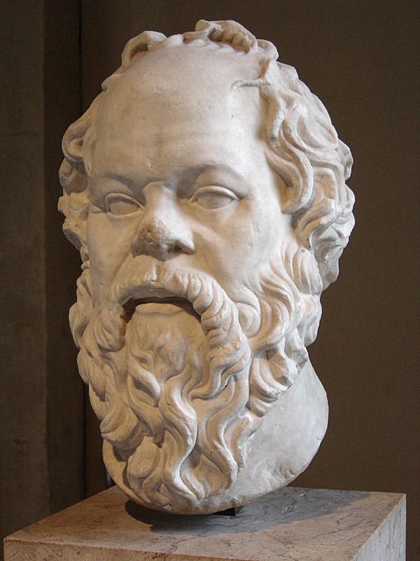 Escultura de Sócrates, obra de arte romana del siglo I d. C. Fuente: Wikipedia