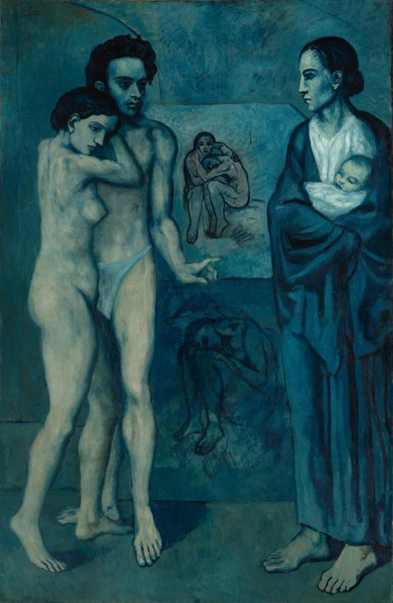 Pablo Picasso. «La Vie» 196x129 cm Óleo sobre lienzo 1903 Fuente: The Cleveland Museum of Art