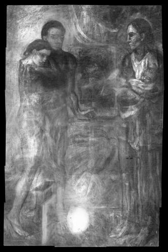 La radiografía de «La Vie» nos muestra asombrosos detalles que quedan ocultos en la composición final. Fuente: The Cleveland Museum of Art