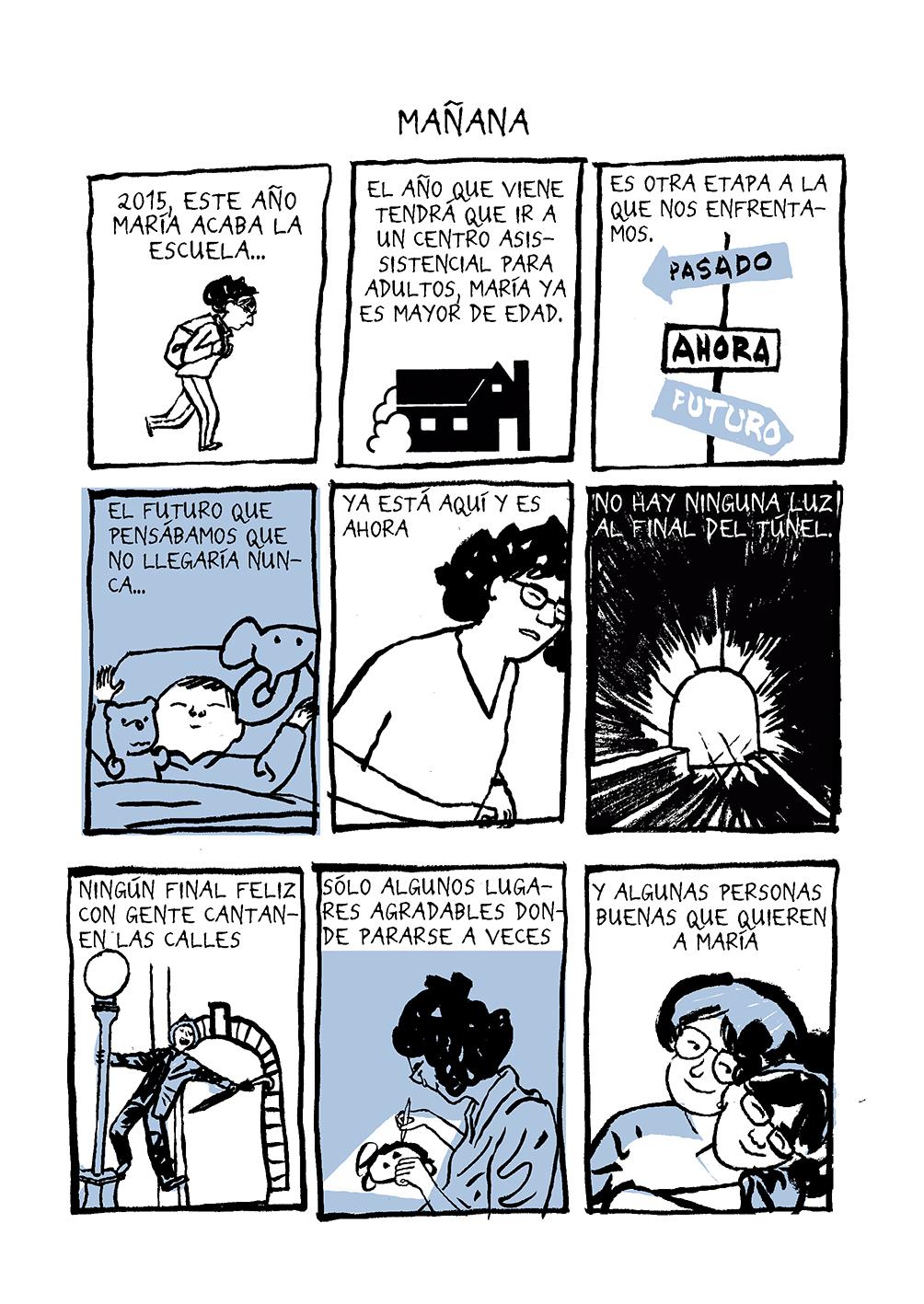 Página de «María cumple 20 años» de Miguel Gallardo