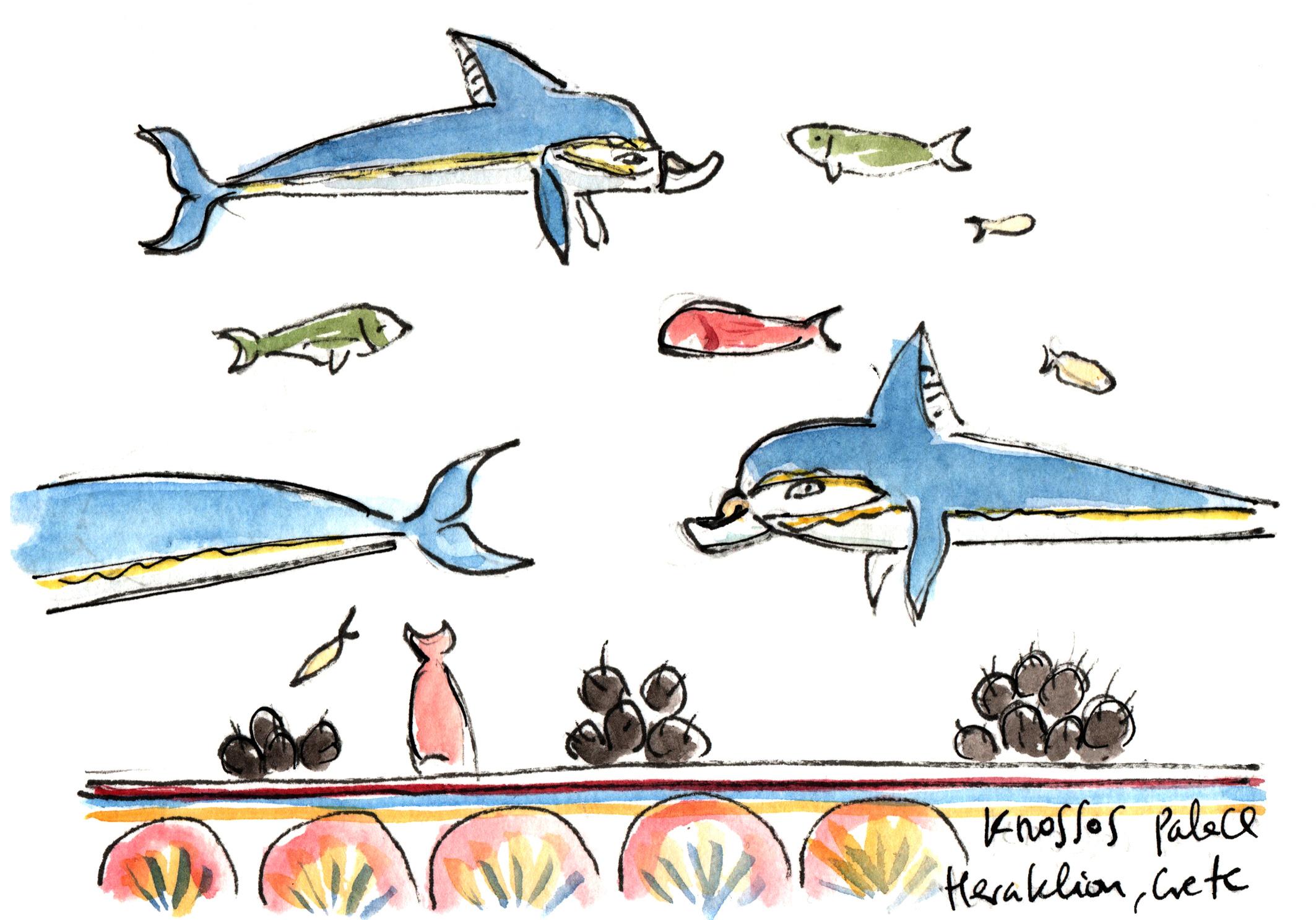 Pintura de los delfines