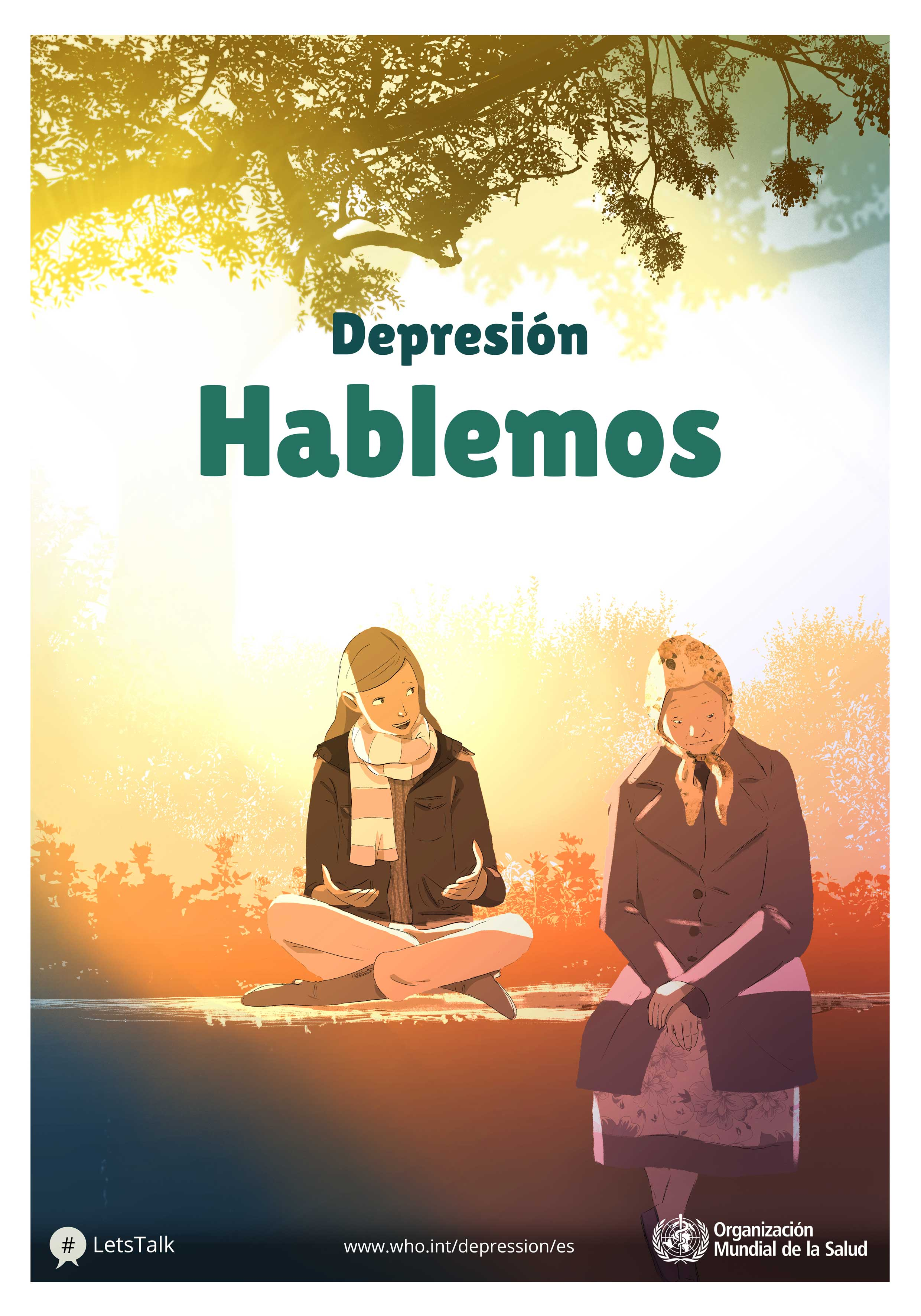 Fuente: OMS (http://www.who.int/campaigns/world-health-day/2017/posters-depression/euro/es/)